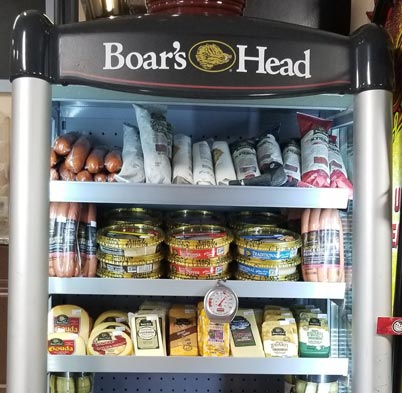 Boar's Head Refrigerator with sausage and cheese