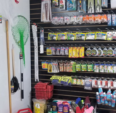 Fishing Supplies incl. nets, hooks, bait